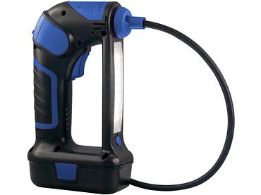 Tragbarer Luftkompressor blau