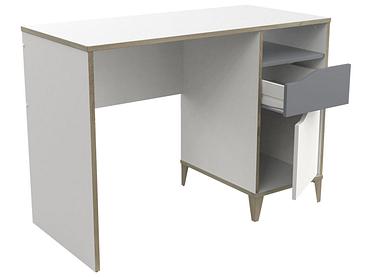 Schreibtisch ALESSIO weiss,grau