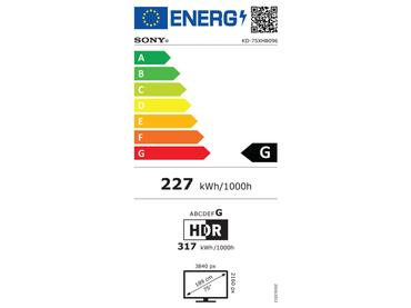 LED-Fernseher SONY 75''/190cm - KD75XH8096