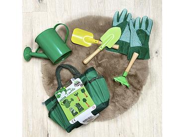 Set für Gartenarbeit grün