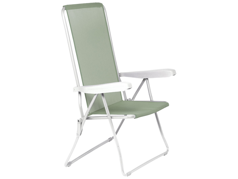 Camping-Stuhl Metall grün