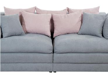 Big Sofa NANCY Stoff grau