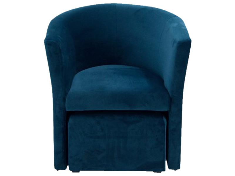 Sessel COSI Samt,Stoff blau