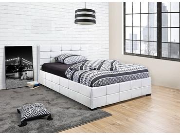 Bett MONZA WHITE 160x200cm Lederlook weiss