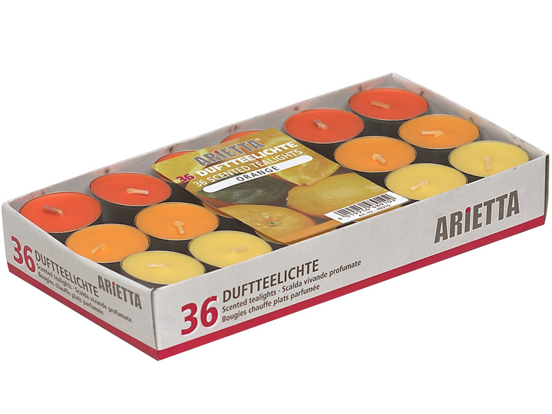Teelicht 36 1-teilig Orange Ø3x3cm