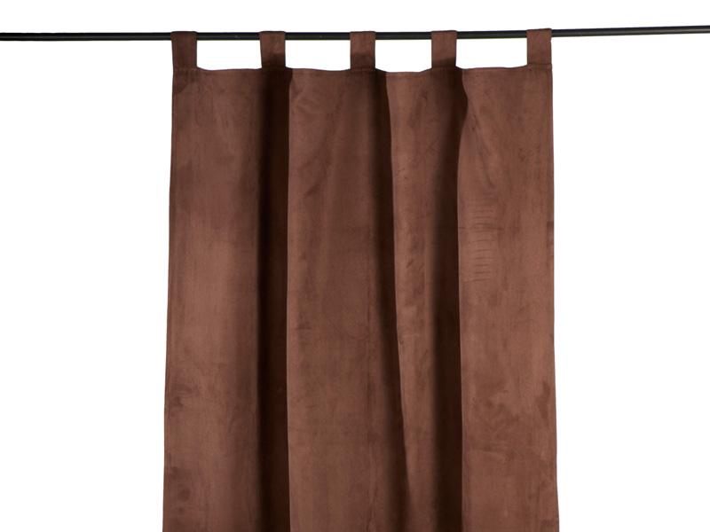 Vorhang MILANO 110x240cm Polyester schoko Abdunkelnd