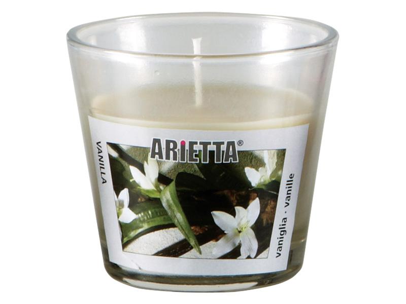 Kerze ARIETTA 1-teilig Vanille Ø9x8cm