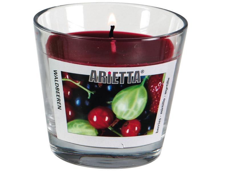 Kerze ARIETTA 1-teilig Rote Früchte Ø9x8cm